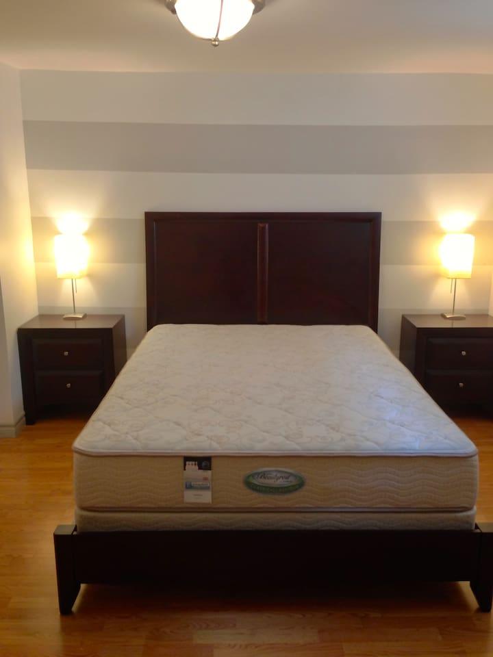 master bedroom, comfortable queen bed