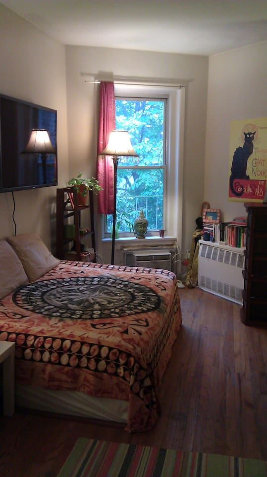 Full size Bed for 2 (Apt. faces the back, so no street noise =)
