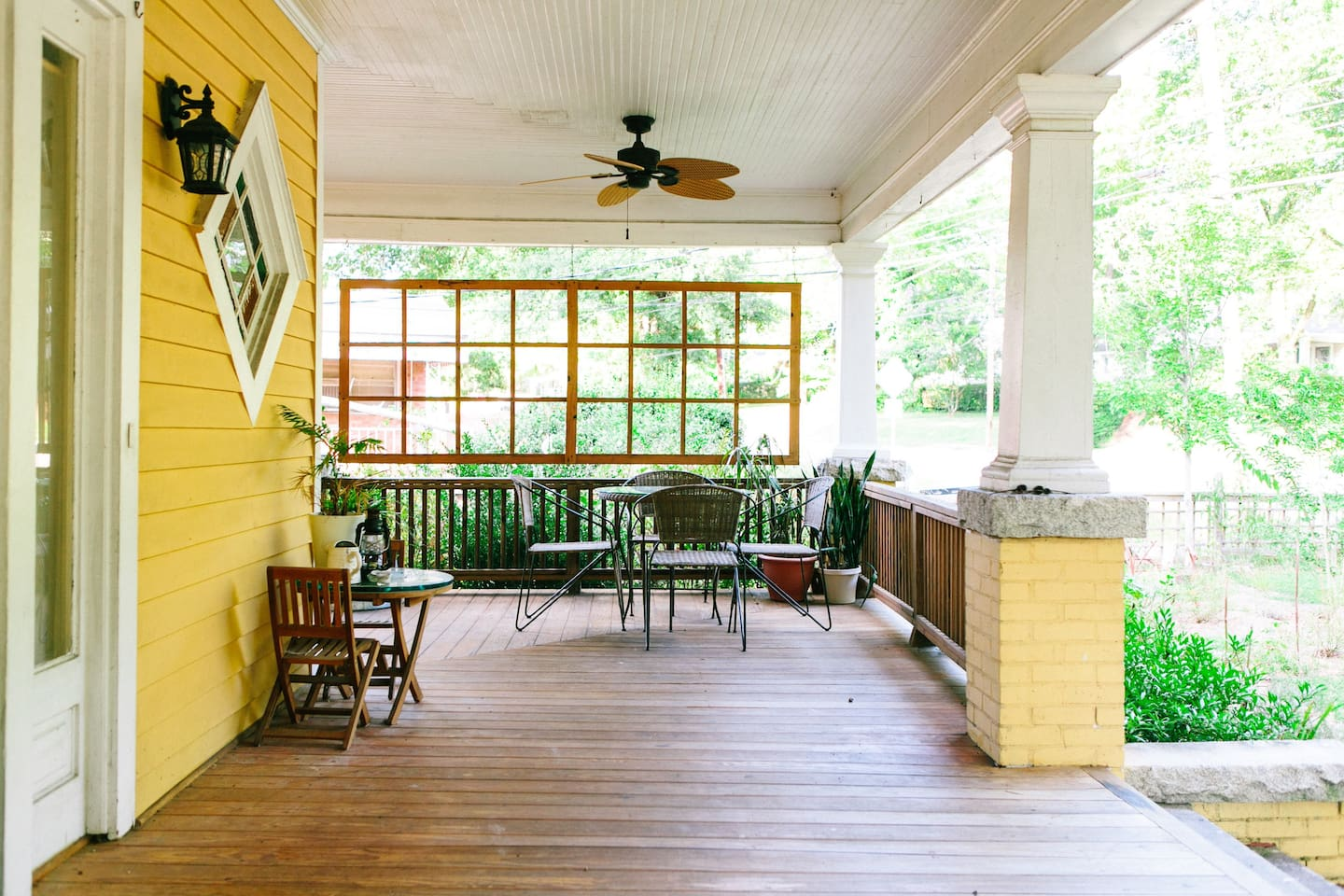 The porch is a great place to hang out and read.
