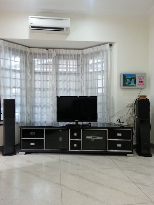 TV set in the living room
