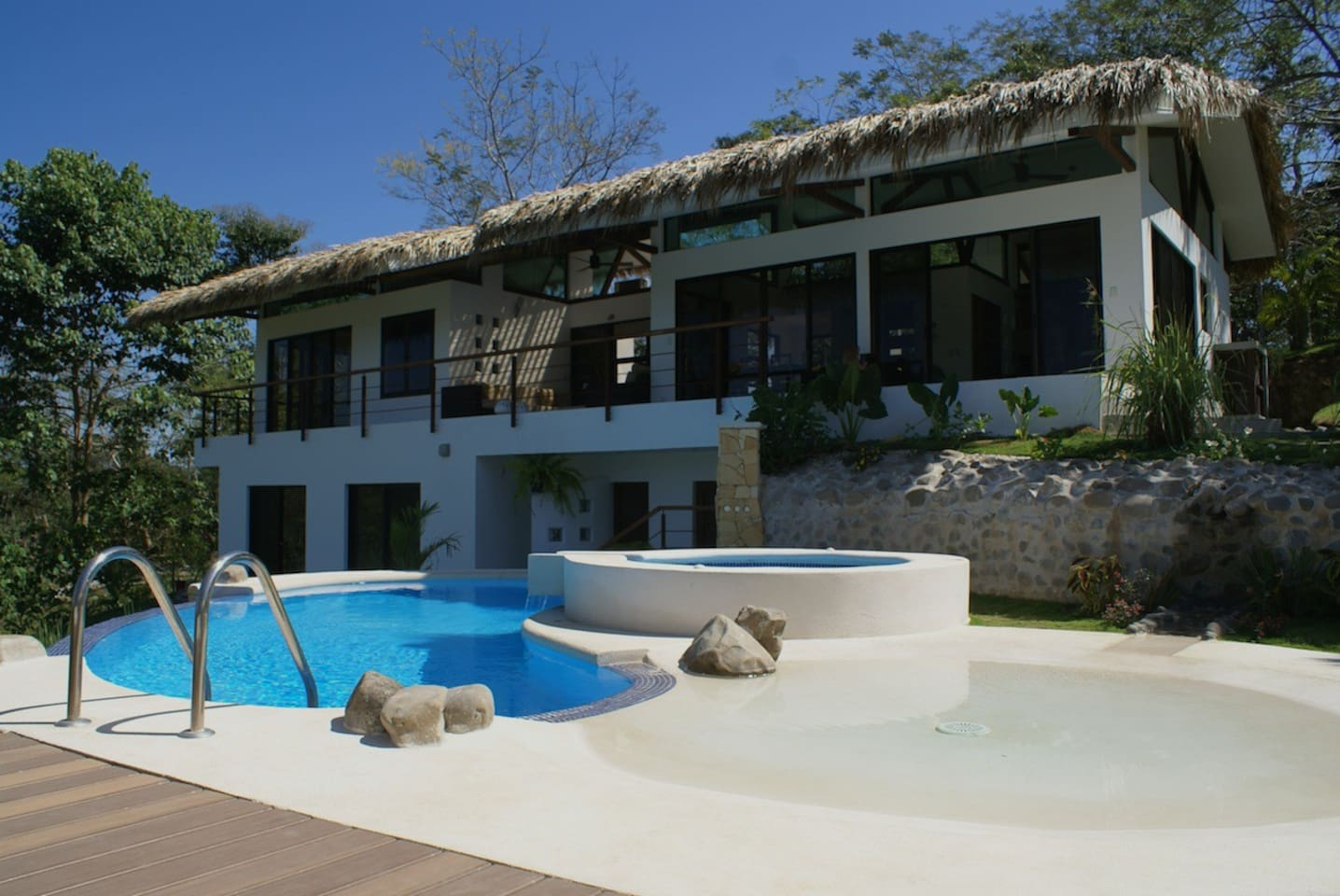 Casa Divina and our salt water infinity pool.
