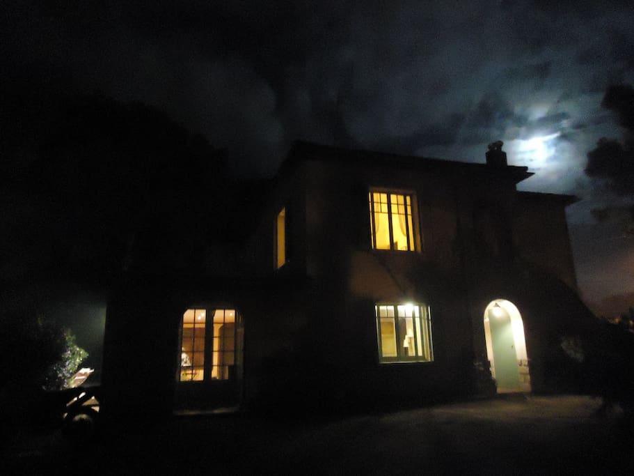 At moon light