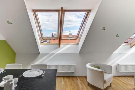 Castle view apt. w terrace - center - Lägenhet