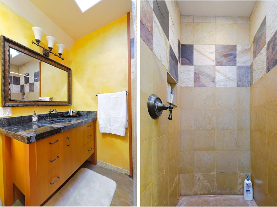 The Guest Bathroom & Shower, W/ venting skylight