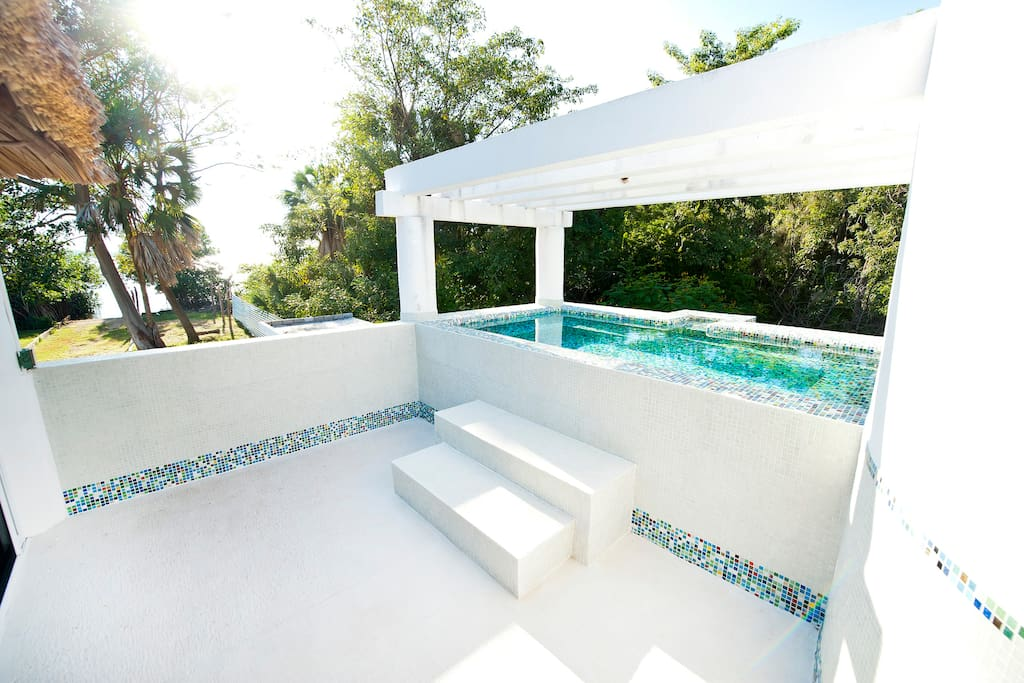 rooftop pool- walkout from upper bedroom