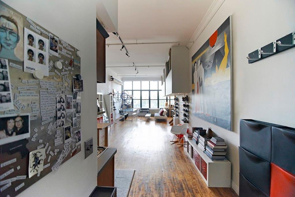 loft: entrance view