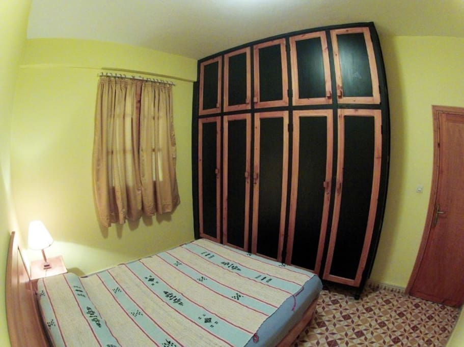 Bedroom. Bed size 150x 180cm.