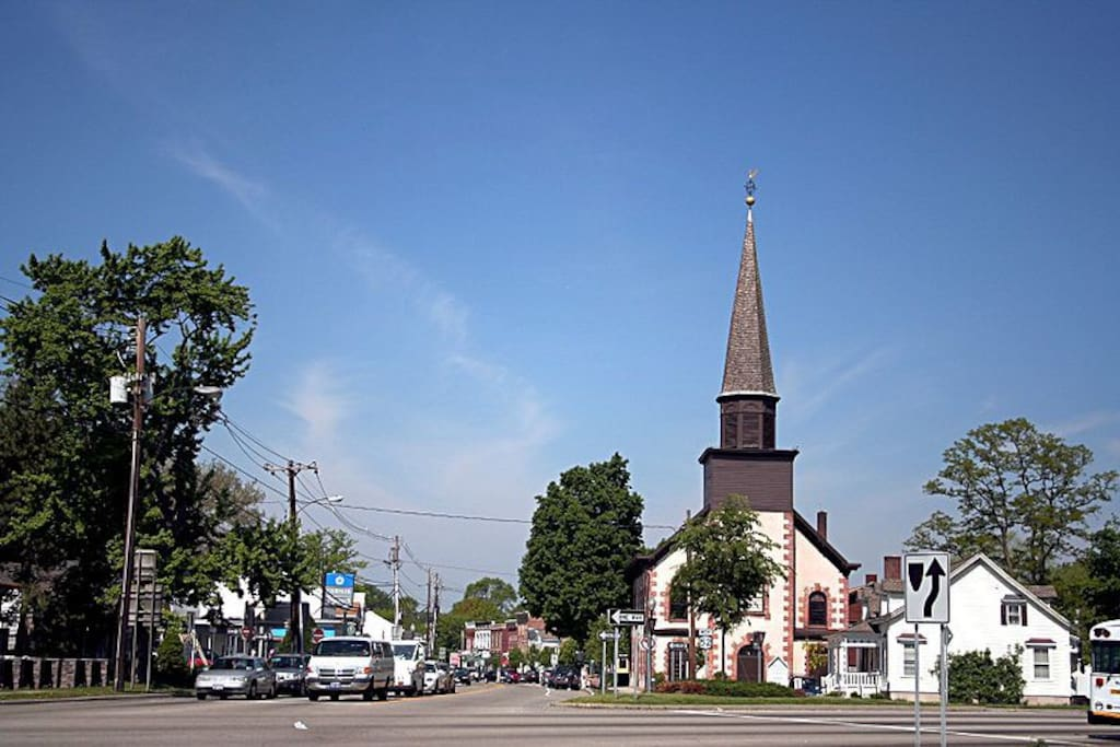 Historic Buildings like the Fishkill Reformed Church are only a short walk.