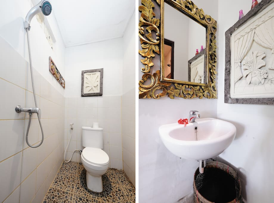 Cozy Bathroom with Shower only, Sink is located outside of shower area