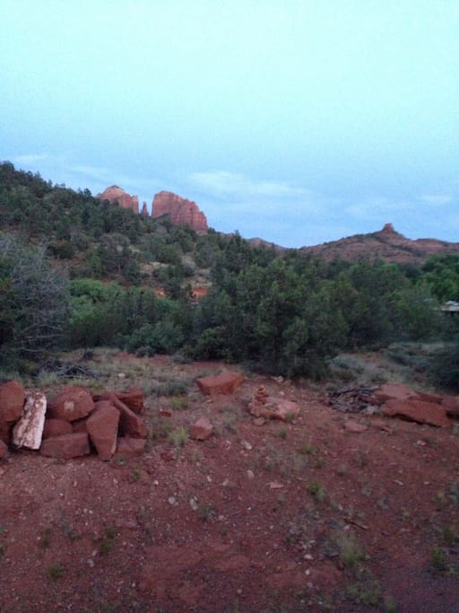 Cathedral red rock view