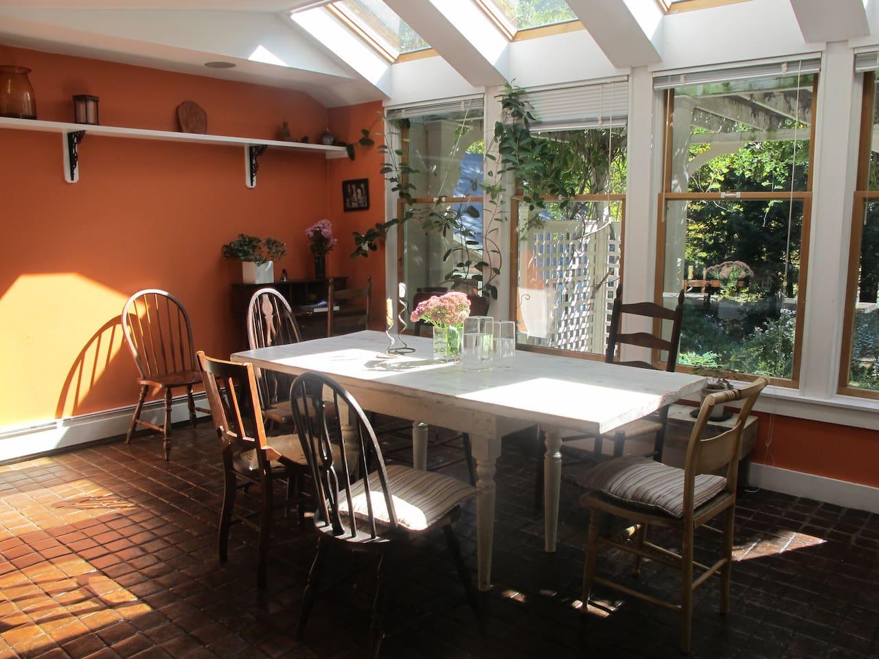 Enjoy breakfast in our sun filled solarium dining room
