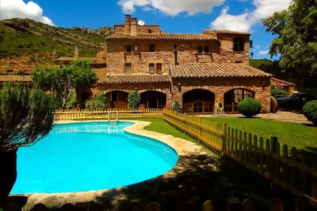 Masia Sant Llorenç for 16 people in the mountains of Barcelona! - Barcelona Region - Casa