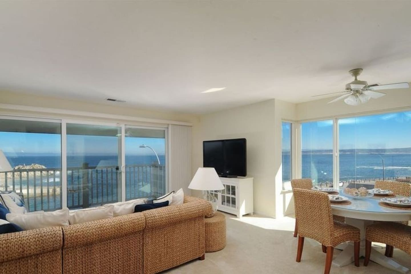 Living Room with a Panoramic View of Monterey Bay and Lover's Point