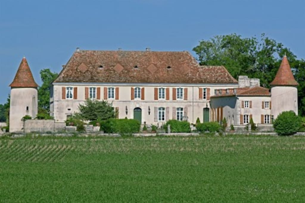 View of the Chateau from across the neighbouring fields.