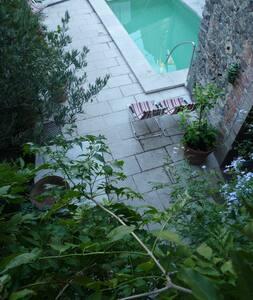 Can Bella,casa con picina en Catalogne,Espolla - Haus