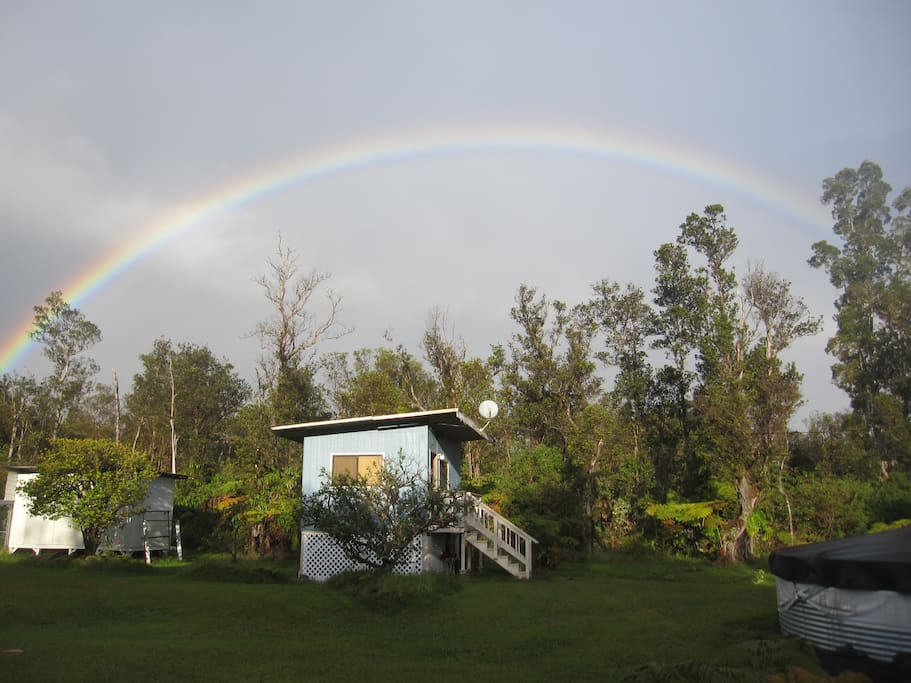 Just another rainbow over Chateau Kilauea