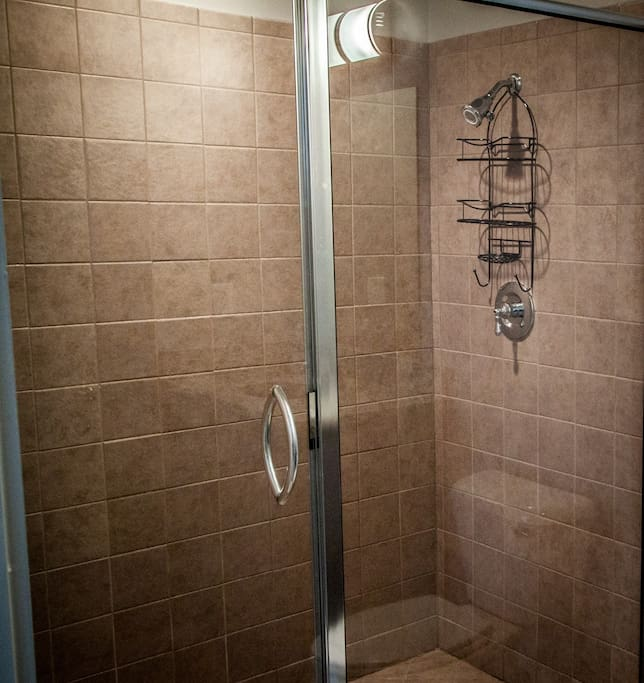 Upstairs Restroom w walk-in shower