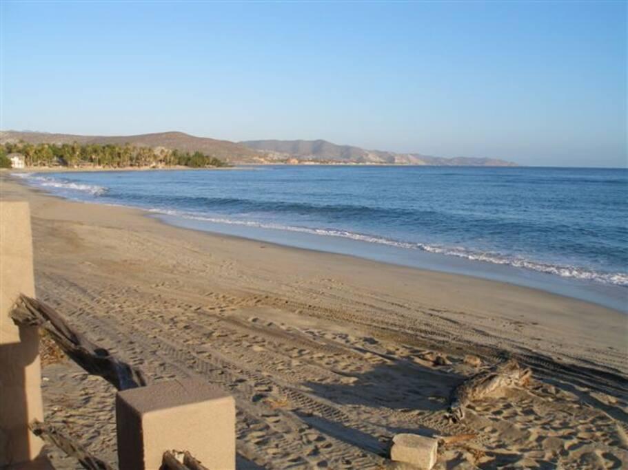Endless white sand beaches to the left toward Rancho Buena Vista