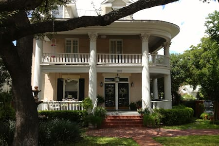 Located in San Antonio's historical midtown neighborhood, our well-appointed 1910 three-story home is comfortable and conveniently located within one and a half (1.5) miles walking distance to the city center and the river walk.