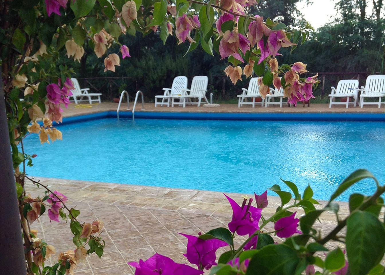 Relax by the large 8x16 meter pool. Pool house has changing room, bathroom, shower and fridge