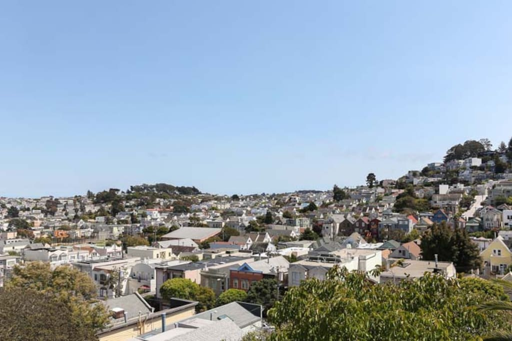 View of southern noe valley from the master bedroom