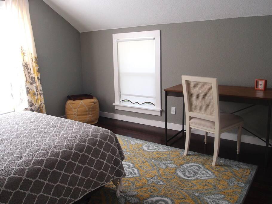 Bedroom #1 includes a desk
