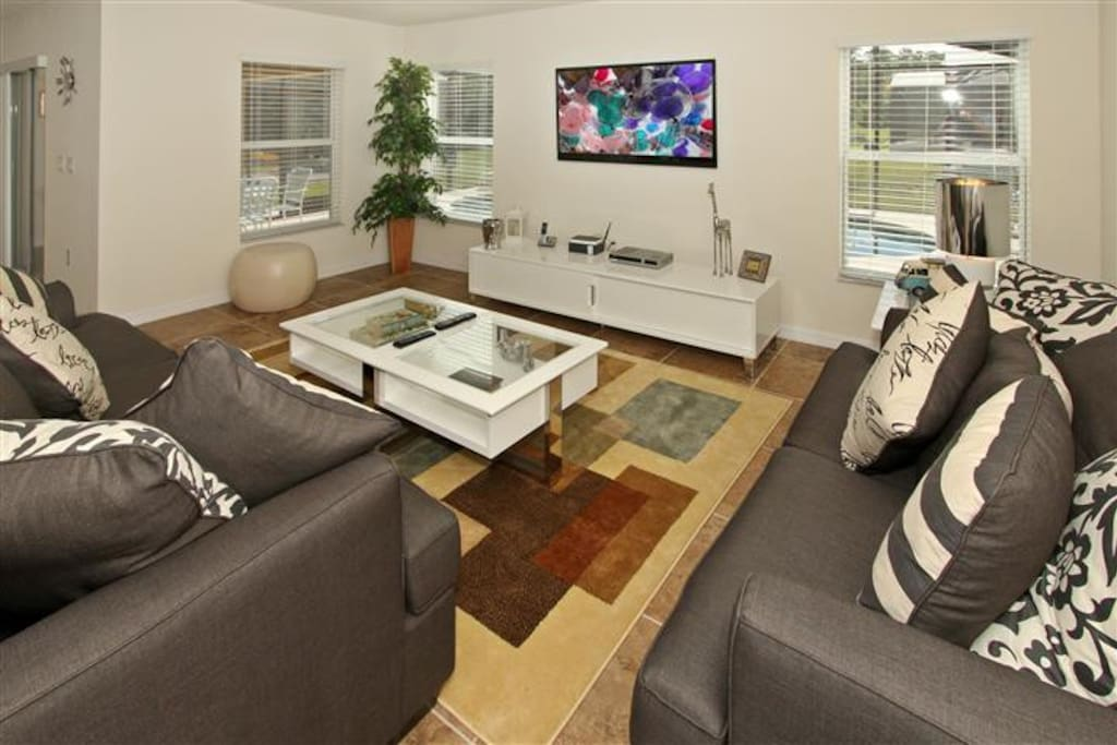 Living Room with Sofa bed & Flat screen TV