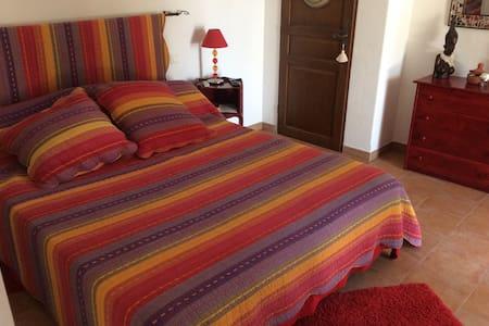 1 belle chambre au calme - Roquefort-les-Pins - Oda + Kahvaltı