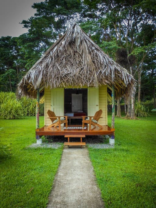 Each Cabanas has it's own private deck, with chairs and hammocks.