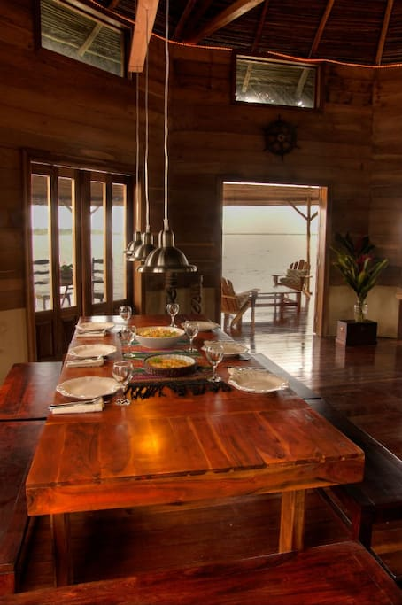Dinner is included and served family style in the Over-the-Water Restaurant
