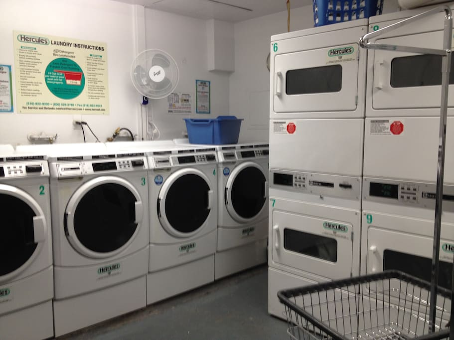 Laundry room available in the basement of building
