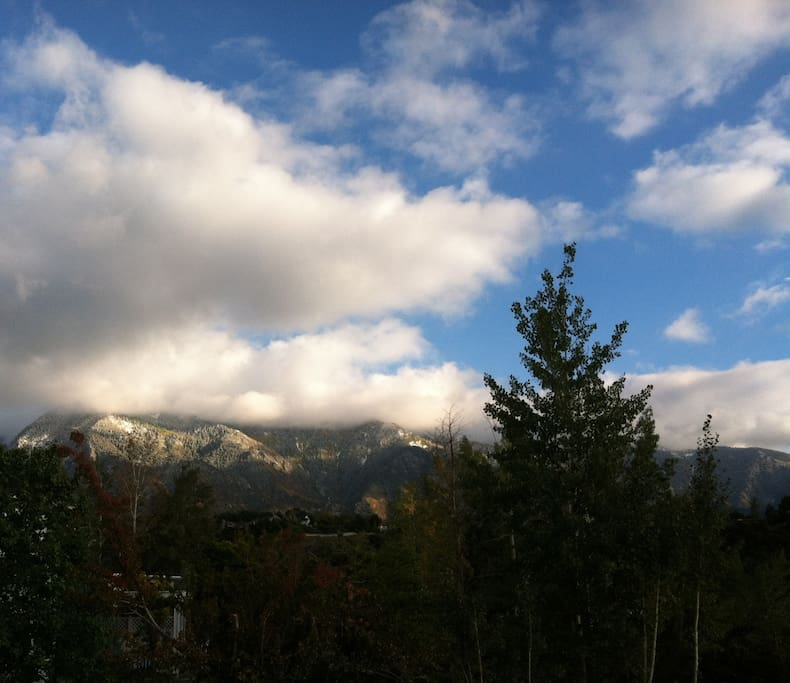 View of Little Cottonwood Canyon from the house (where Alta and Snowbird are).
