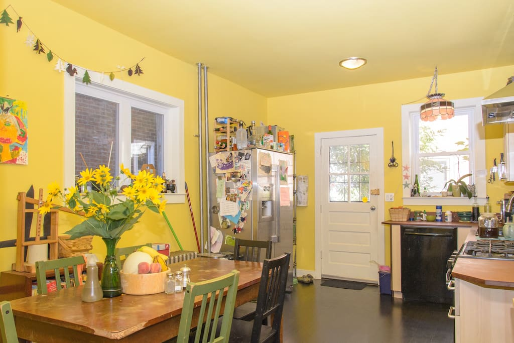 "Kitchen, ""the galley"" shared with family and any other guests"