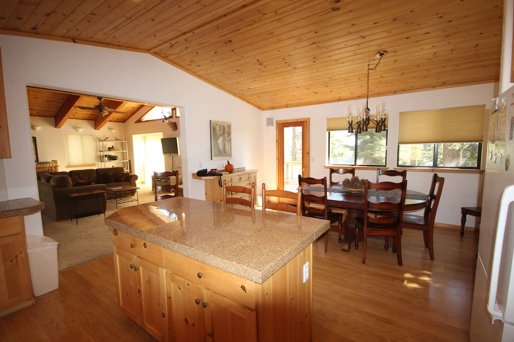 Large eat in kitchen and dining room
