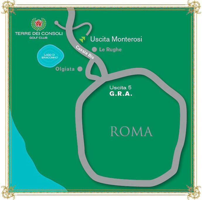 Roma near- Casa con campo da golf
