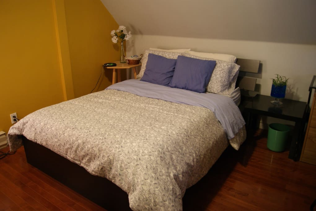 Your bed... with 6 pillows!
