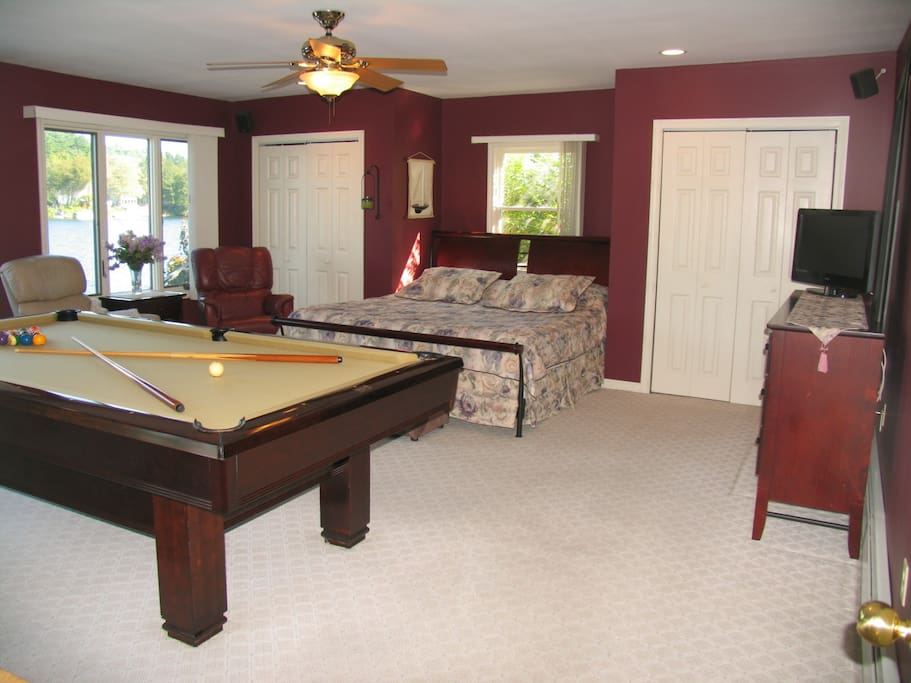 First floor bedroom with Pool Table