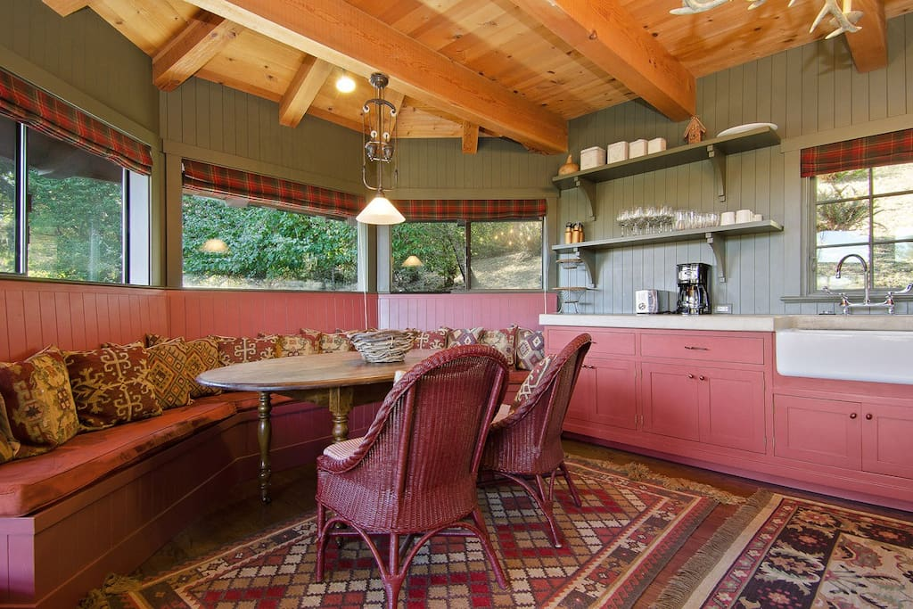Banquette and kitchen dining table