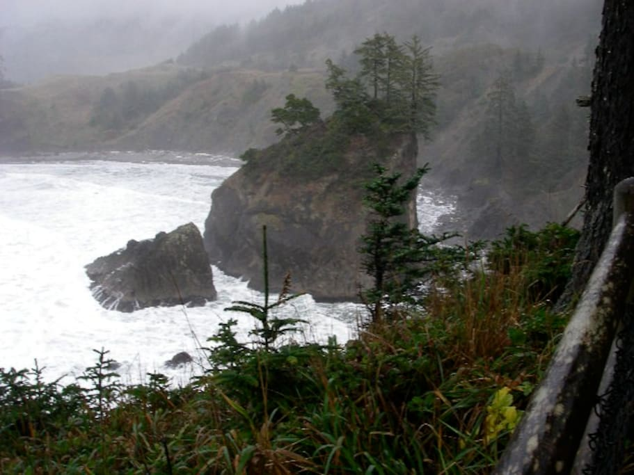 This part of Oregon is known for its rugged coast and dramatic rock formations.