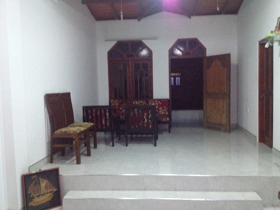 Private living area attached to the room