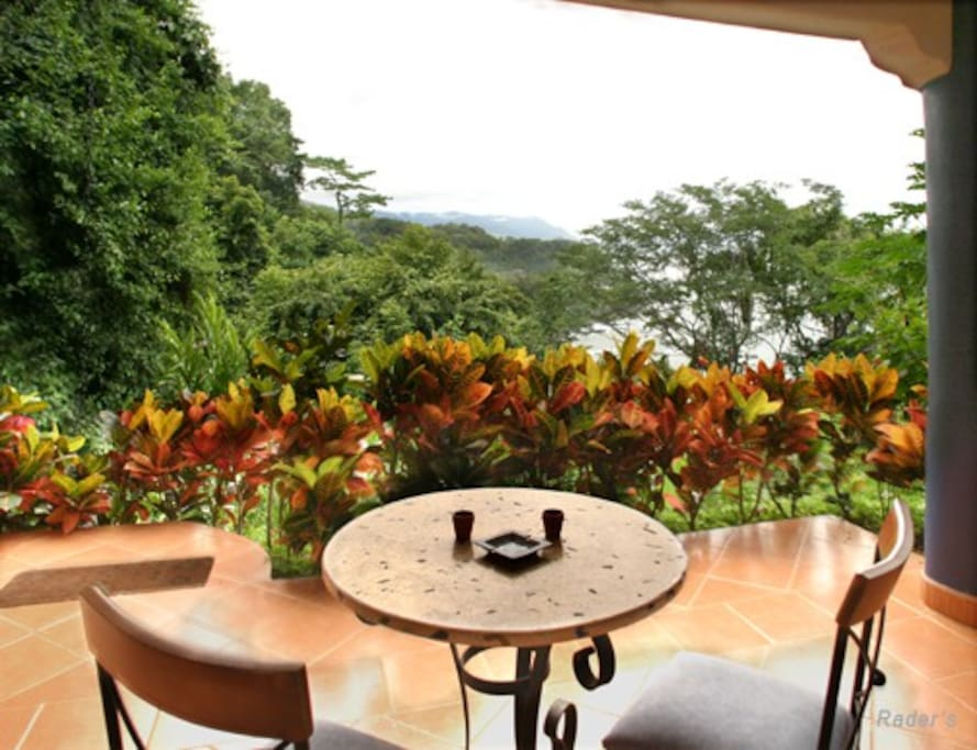 Enjoy breakfast on your private patio of Las Rocas Abajo while watching the waves crash on the rocks below.