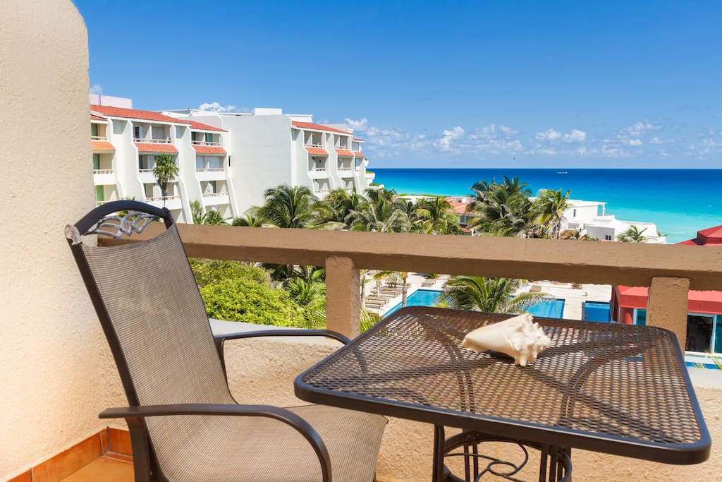your patio and view of the caribbean sea