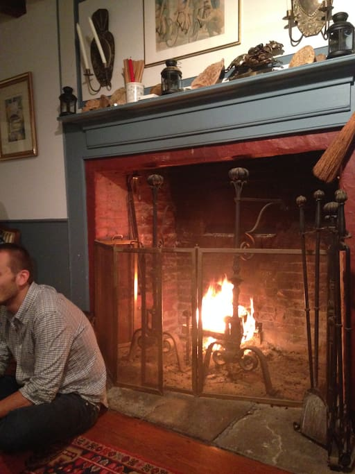 Huge fireplace for fall/winter
