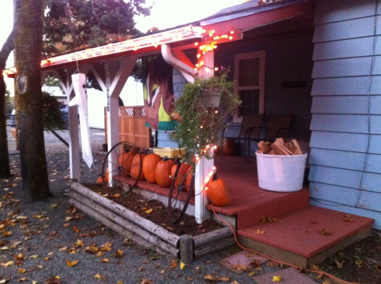 Fall fun in the country with pumpkins and wood fires