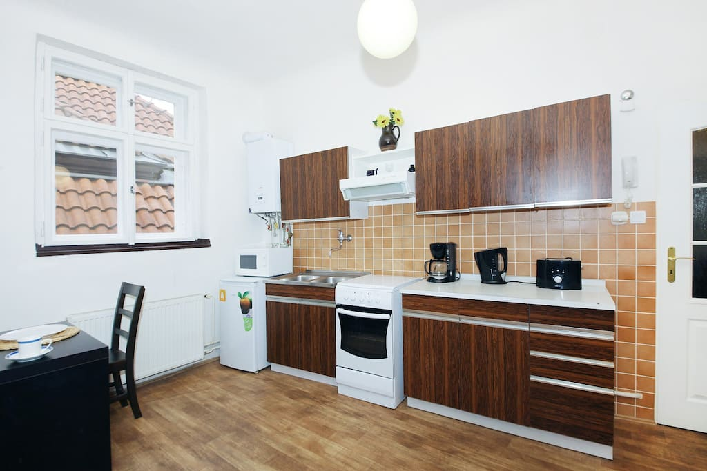 Fully equipped kitchen - all you might need for preparing a simp