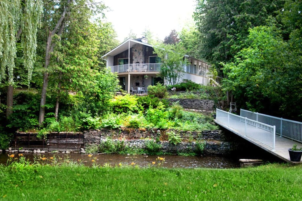 bridge onto 4 acres of beautiful cedar trees