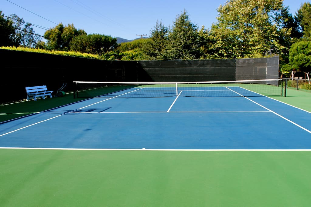 Our Tennis court waiting for players