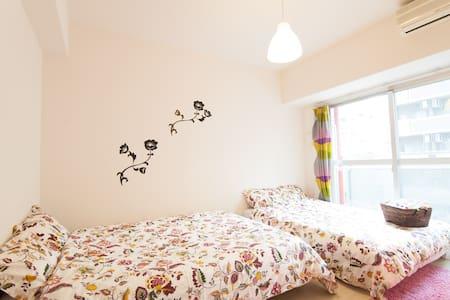 J03 7mins to JRNamba sta. 2 ROOMS - Naniwa Ward, Osaka - Apartemen