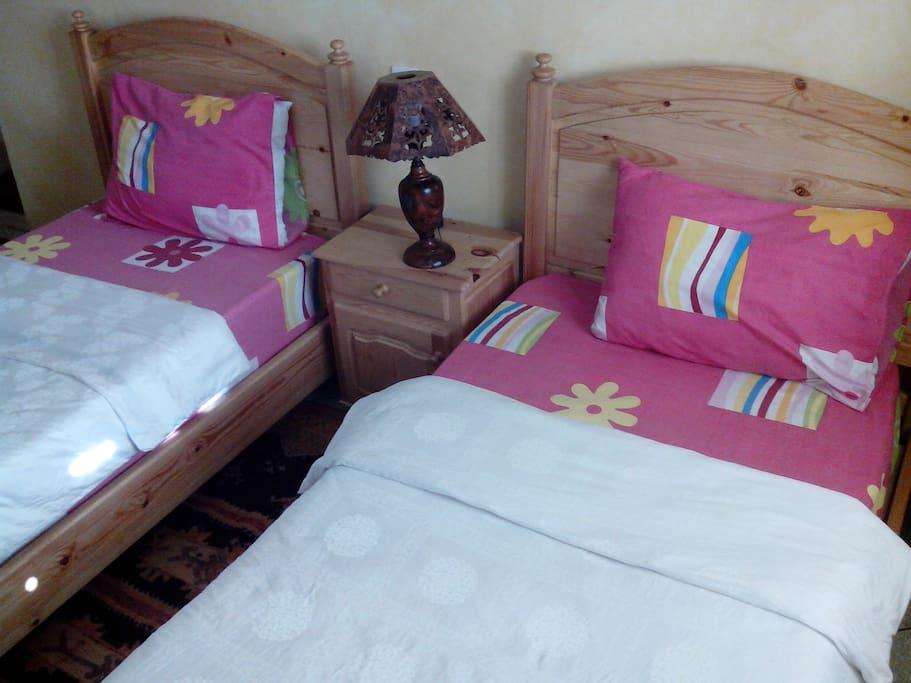 Raum mit 2 Einzelbetten