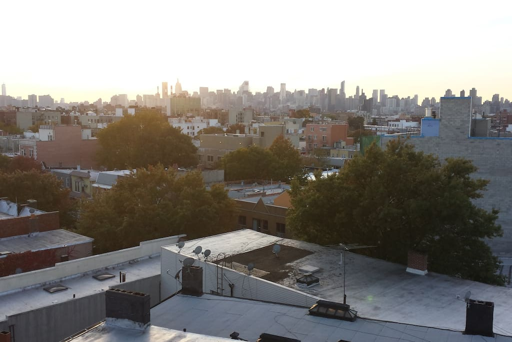 Actual view from open community rooftop